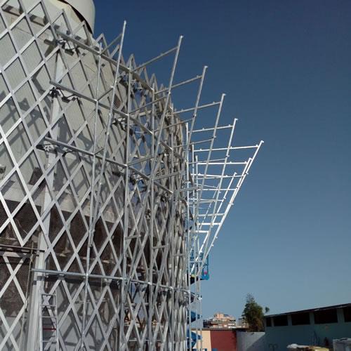 estrutura metalica a escanear 3d